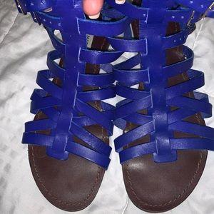 Blue Steve Madden Jesus Sandal Size 9